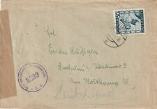 1945 Austria IIWW censored cover from Eckkartsau to Bochum