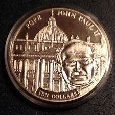~2005 Republic of Liberia $5  history of Christianity Pope John Paul II Proof
