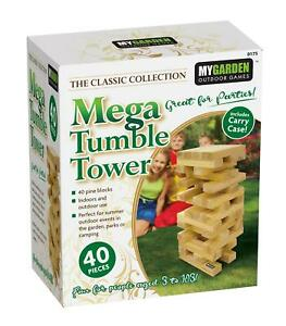 Mega Jenga Tumble Tower Giant Large Blocks Wooden Pieces Family Fun Garden Game