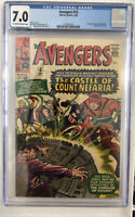AVENGERS #13 CGC 7.0 OW/W Pgs 1st App Count Nefaria, Fantastic Four, Marvel 1965