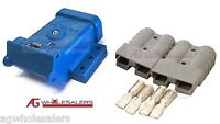 BLUE ANDERSON PLUG MOUNTING KIT 50A WITH 2 PLUGS MOUNT COVER DUST CAP EXTERNAL