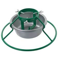 "Euro 5"" Christmas Tree Stand Green with Grey Bowl - Trees Up To 7ft / 210cm"