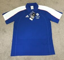 "ADIDAS TEAM GB MEN'S ROYAL BLUE WHITE POLO SHIRT - SIZE M  38/40""- BRAND NEW"