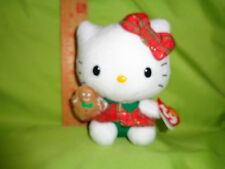 Hello Kitty Christmas WITH GINGERBREAD MAN TY Beanie Babies Stuffed Plush Toy