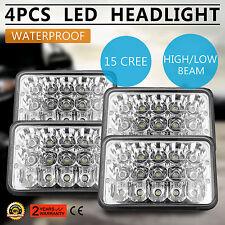 "4x6"" Led Cree Light Bulb Headlamp Crystal Clear Sealed Beam Headlight IP68"