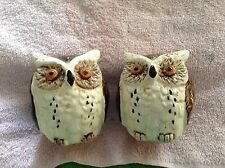 Ceramic owl shaped salt pepper shakers  00000C02