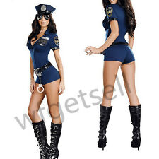Officer B Naughty Woman Police Costume Uniform Halloween Polyester Fibre Suits