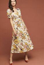 New Anthropologie Sunflower Wrap Dress sz M