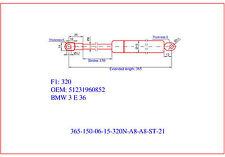 2x Gasdruckfeder/ Gasfeder Dämpfer gas spring BMW 3er E36 316-328+M3 Motorhaube
