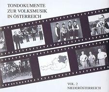 Tondokumente zur Volksmusik in Österreich Vol. 2 Niederösterreich CD ORF