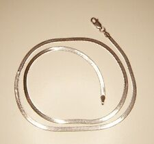 """Sterling Silver Herringbone Necklace 2.7mm 18"""" Italy"""