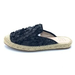 LF/LIFE Womens L-Indie Espadrille Mule Sandals Beige Slip On Flats 8 M New
