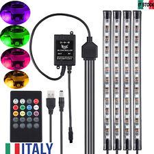 Striscia Luce Interni 48LED RGB Multicolore Impermeabili per l'Interno di Auto