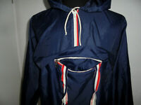 vintage 80s Nylon Schlupfjacke Regenjacke oldschool blau glanz Jacke 50 (M-L)