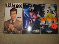 Jim Carrey Comedy VHS Lot of 3 Liar Liar, Cable Guy, Ace Ventura