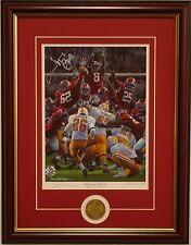 Alabama football Maximum Block Daniel Moore framed print and coin signed by Cody