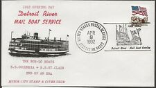 1992 Detroit Riverboat Mail Service, Opening Day