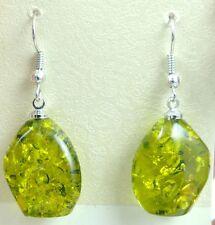 Precious Modernist amber Handmade Gemstone Jewellery earrings H19