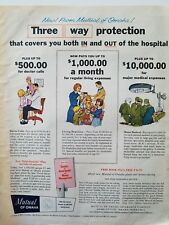 1967 Mutual of Omaha insurance 3-way protection vintage ad