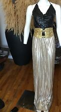 ASOS Metallic Gold Maxi Skirt Festival Prom Special Occasion Wedding Evening