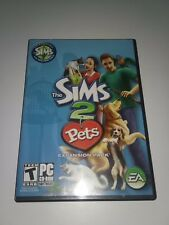 THE SIMS 2: CHANNEL PETS VIDEO GAME Expansion Pack 2 disks Windows 2006 Pre-Own