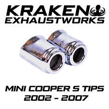 MINI COOPER S R52 R53 02-07 CHROME EXHAUST TIPS PAIR OE SPEC