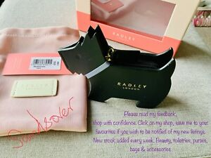 RADLEY Leather Coin Purse Profile Dog black with dust bag in gift box BNIBWT £49