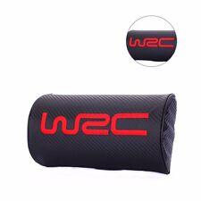 2pcs Carbon Fiber WRC Car Headrest Neck Pillow Seat Pad Subaru STI Ford