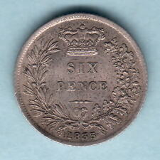 New listing Great Britain. 1835 William 1111 - Sixpence. aU/Unc - Much Lustre