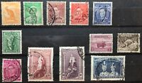 AUSTRALIA 1938-49 DEFINITIVES PART SET TO ONE POUND SG 164-78 VERY FINE USED