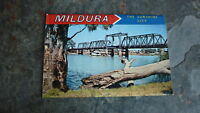 OLD AUSTRALIAN POSTCARD VIEW FOLDER, 1960s MILDURA VIC THE SUNSHINE CITY