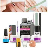 120ml Acrylic Liquid Powder Buffer File Brush Dryer Nail Art Tools Kits - US
