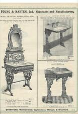 Vintage Architectural Advert ' Young and Marten Stratford 'Lavatory Stands Sinks
