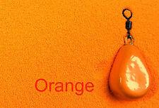 Naranja Anzuelo Cabeza / Polvo de Recubrimiento de PLOMO - Plástico -