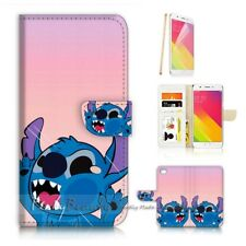 ( For Oppo A57 ) Wallet Case Cover P21578 Cute Little Monster