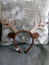 Reindeer Antlers Christmas Fancy Dress Headband Seasonal Costume Xmas Novelty