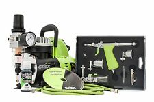 NEW Grex GCK02 Tritium.TS Airbrush Combo Kit with AC1810-A Quiet Mini Compressor