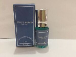 D&G Light Blue 3ml (0.10 oz.) pure perfume oil Without Alcohol!