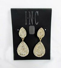 INC International Concepts Gold-Tone Pavè double Teardrop Earrings Msrp $29.50