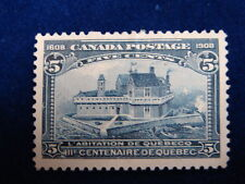 CANADA UNITRADE  # 99 VF-MH 5c BLUE CHAMPLAIN'S HABITATION CAT VALUE $90