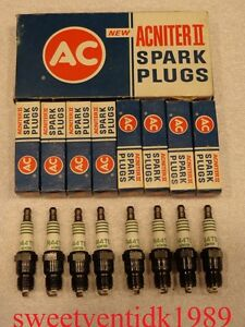 'NOS' AC-R44TS Spark Plugs......'Acniter Script'.......GM #5613302