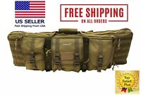 900D Double Tactical Scoped Rifle Gun Range Soft Case Pistol Carry Bag Backpack