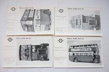 1920s London Transport Bus Tram Exteriors Poster Advertising x4