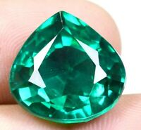 Colombian 23.35 Ct Natural Green Emerald Pear Cut Loose Gemstone Certified F0930