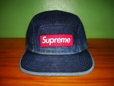 Supreme SS18 Denim Camp Cap/ Adjustable/ Dark Blue