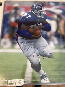 New York Giants Ron Dayne Auto Signed 16x20 Photo Upper Deck Authentic COA