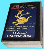 2 PRO MOLD 25 COUNT Trading CARD SNAP STORAGE BOX Plastic PC25 2-piece Baseball