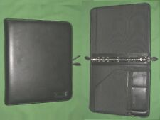 Folio 10 Black Leather Day Timer Planner 85x11 Binder Monarch Franklin Covey
