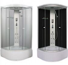 Box doccia idromassaggio 90x90xH210 6 idrogetti radio FM cristallo 5 mm|o3