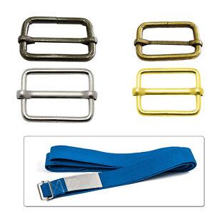 32mm Rectangle Brass Adjust Tri-glide Slider Buckle For Leather Bag Strap Belt